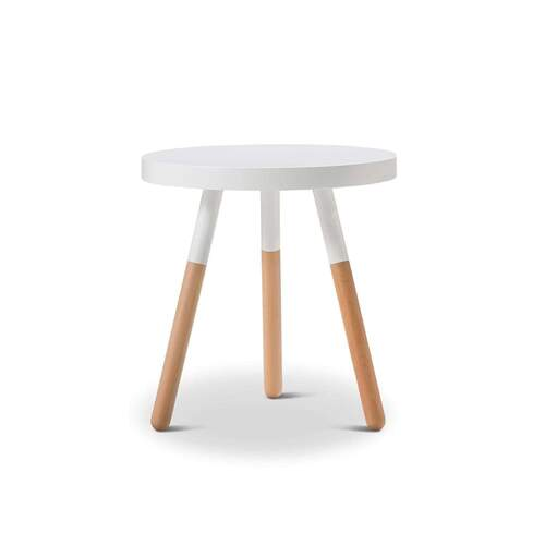 Mae Scandinavian Style Side Table - White