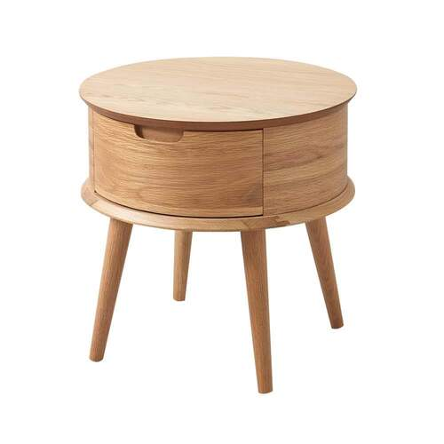 Malmo Ziggy Contemporary Design Nightstand - Oak