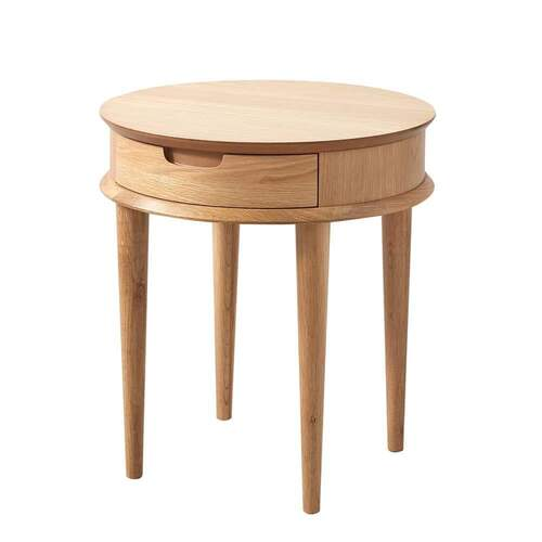 Vaasa Nadia Contemporary Design Lamp Table - Oak