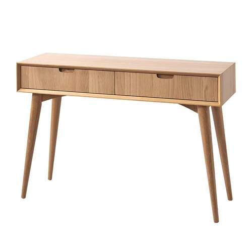 Mia Console Table with Drawers - Oak