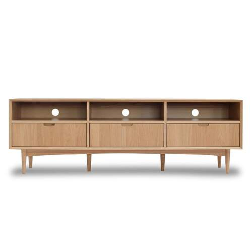 Vaasa Brandon Scandinavian Style Entertainment Unit Large - Oak