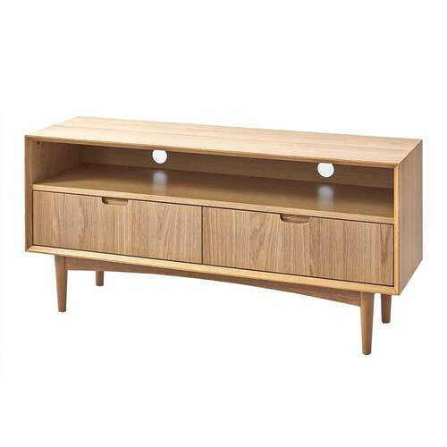 Vaasa Brandon Scandinavian Style Entertainment Unit - Oak