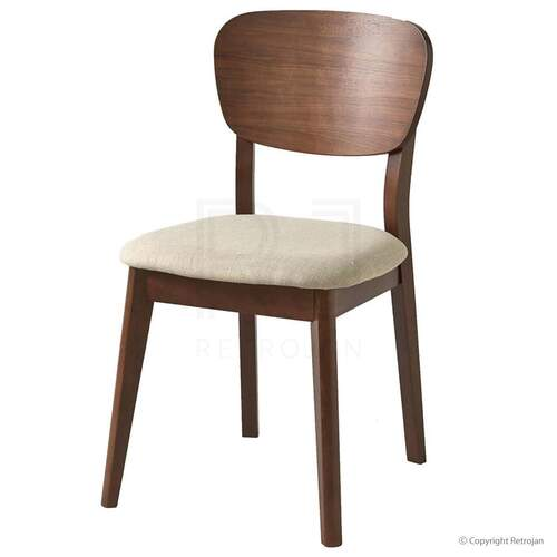 SET OF 2 Vaasa Bettina Scandinavian Style Veneer Back Chair  - Walnut