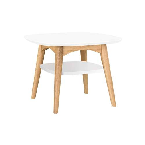 Mia Dual Tone Lamp Table with Shelf