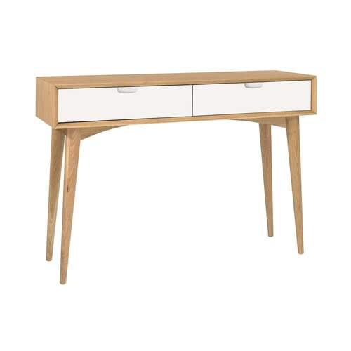 Mia Dual Tone Console Table with Drawers