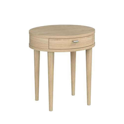 Sadie Lamp Table with Drawer - Washed Oak