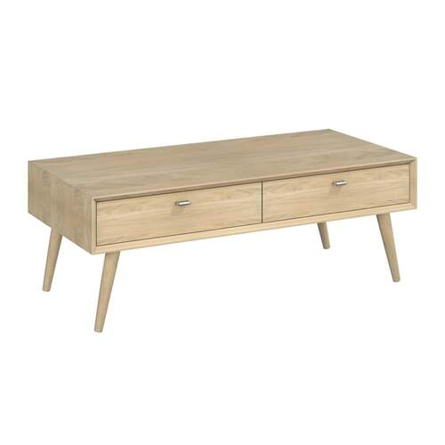 Sadie Rectangle Coffee Table with Drawers - Washed Oak