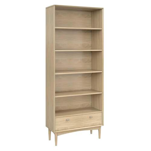 Sadie Wide Bookcase - Washed Oak