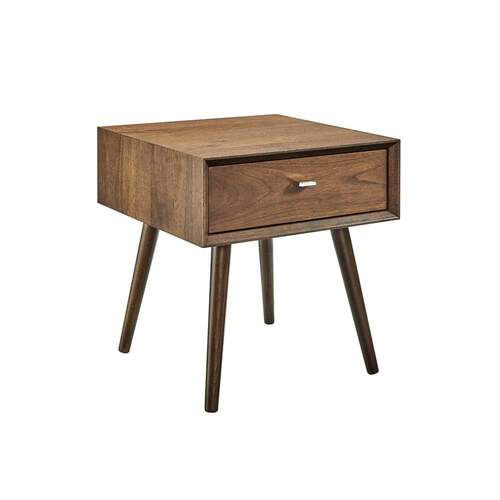 Sadie Bedside Table - Dark Walnut