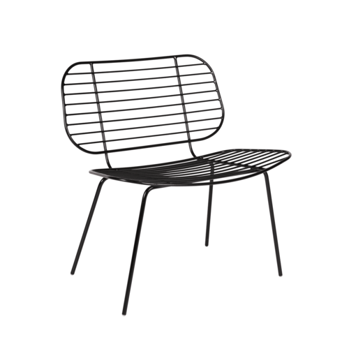 Space To Create Racquet Easy Chair - Black