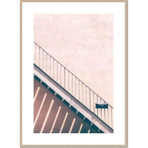 Back Steps (with border) Framed Print [Size: Small - 630x830mm] [Frame Colour: Natural]