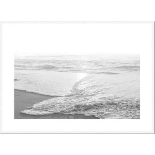 Beachcomber Framed Print [Size: Small - 630x830mm] [Frame Color: White]
