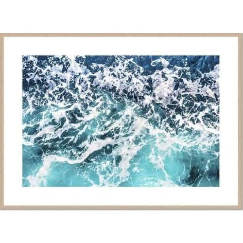 Swell Framed Print [Size: Small - 630x830mm] [Frame Colour: Natural]