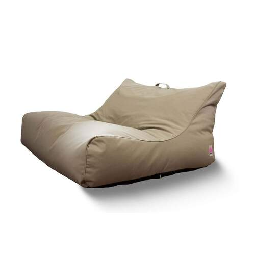 Indosoul Santa Cruz Sun Lounger Outdoor Bean Bag - Taupe