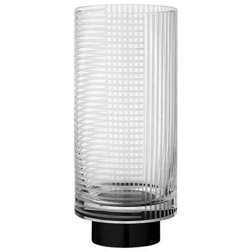 Vitreus Vase Small - Clear & Black