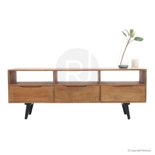 Davis Scandinavian Style Designer Entertainment Unit - Solid Wood
