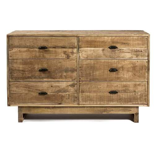 Oona Modern Designer Wood Dresser - 6 Drawer