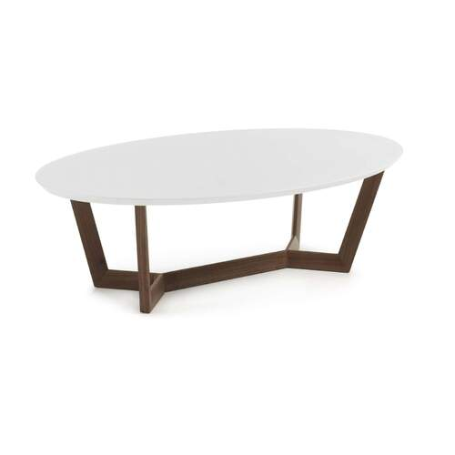 Surf Coffee Table - Walnut and White