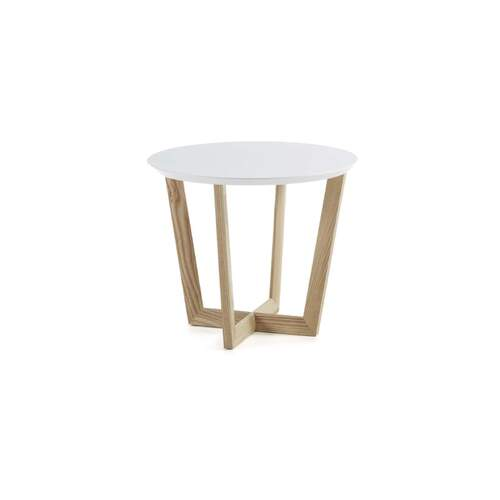 Nolen Side Table - Ash and White