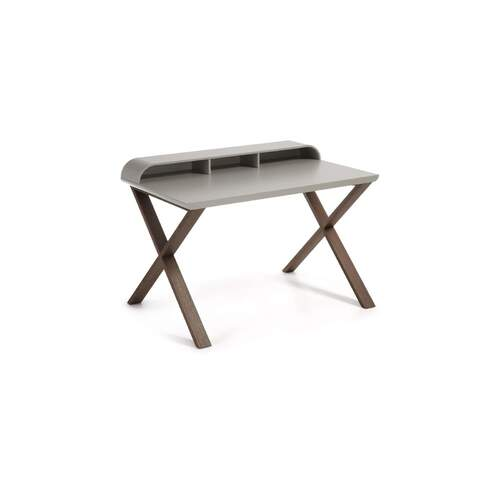 Noam Desk - Walnut and Light Grey