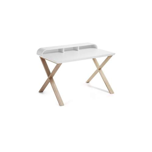 Noam Desk - Ash and White