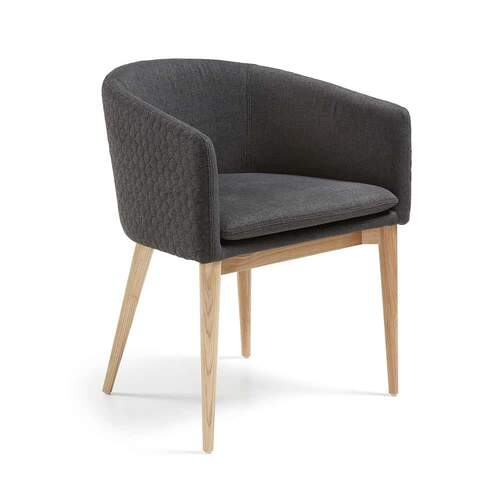 Zev Designer Armchair - Dark Grey