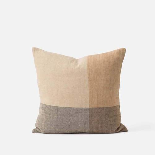 Henri Handwoven Linen Cushion - Multi