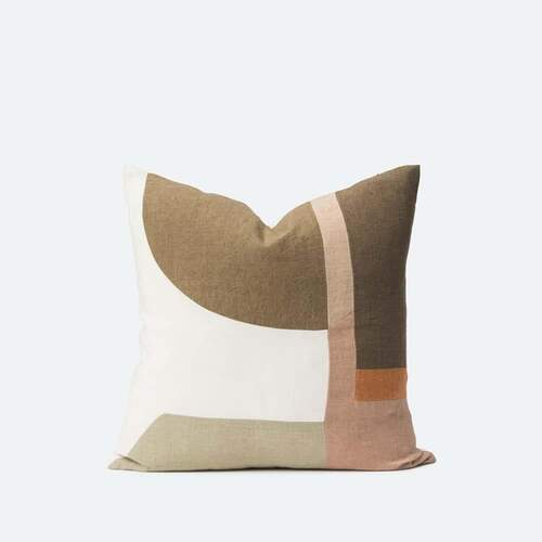 Zaha Patchwork Cushion - Multi