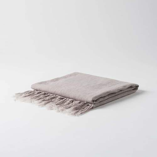 Breeze Hand Woven Linen Throw - Clover