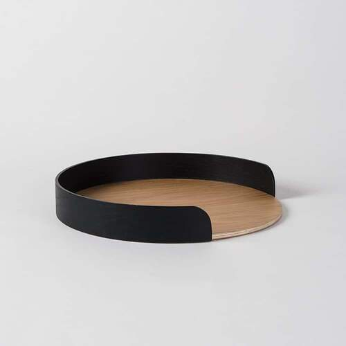 Segment Tray S - Black/Oak