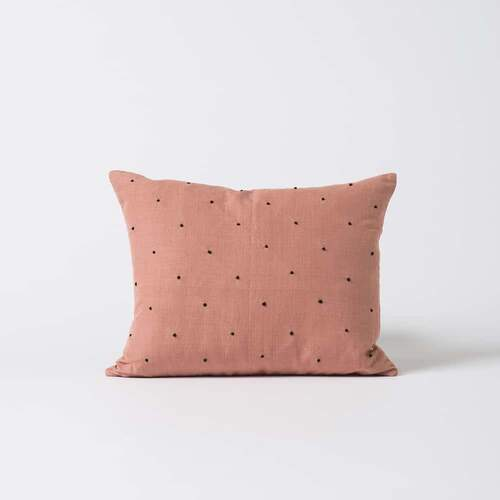 Mia Embroided Linen Cushion