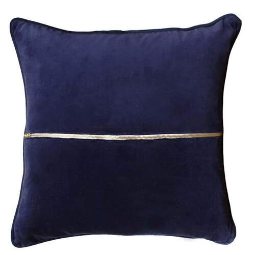 Sly Elwyn Velvet Cushion Cobalt Square