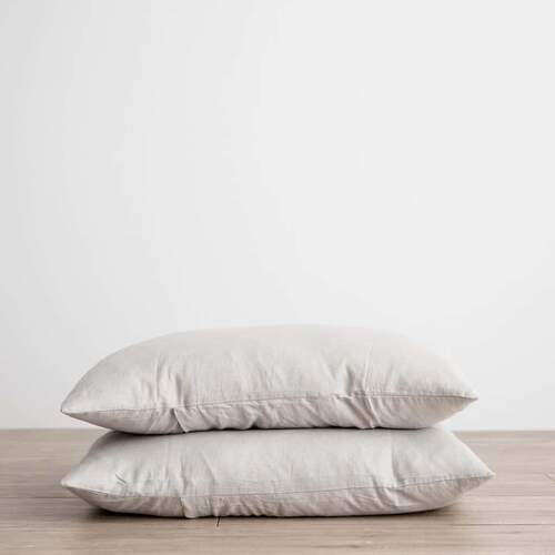 Linen Pillowcases - Smoke Grey