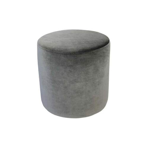 Luxury Velvet Ottoman Small - Christian Grey