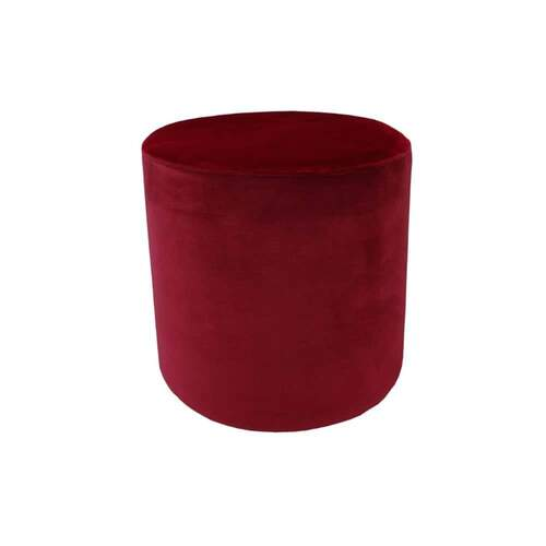 Luxury Velvet Ottoman Small - Merlot