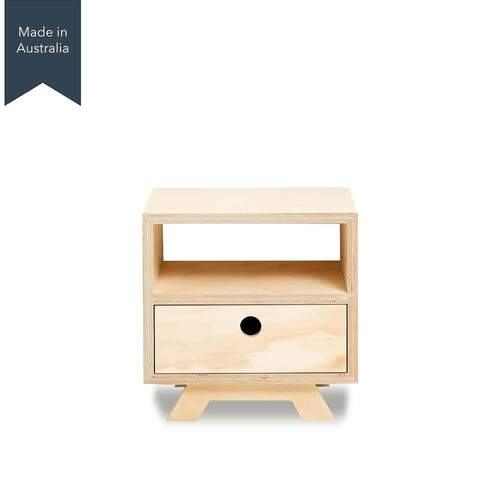 Rocco 1 Drawer Bedside Table - Bottom