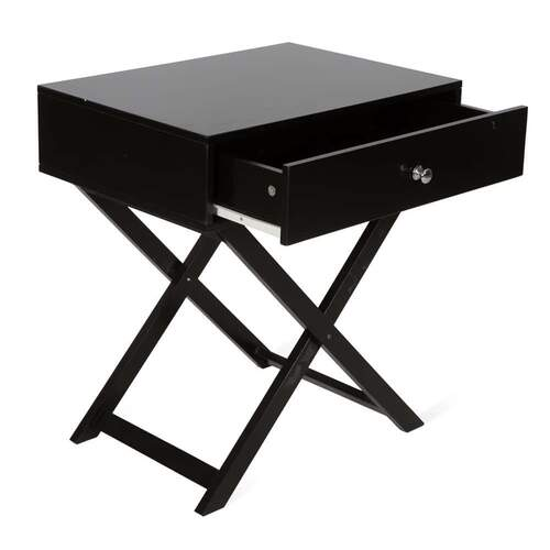 Rada Modern Designer Wooden Side Table - Black