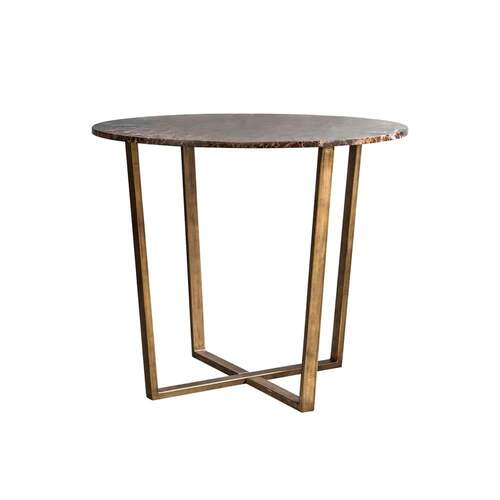 Harlow Side Table - Dark Marble