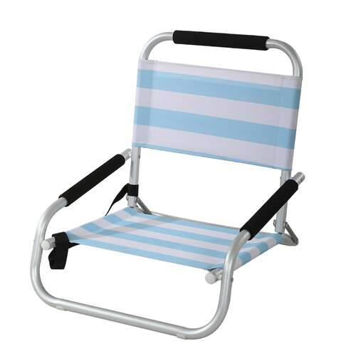 Shelly Modern Designer Outdoor Beach Chair - Sky Blue