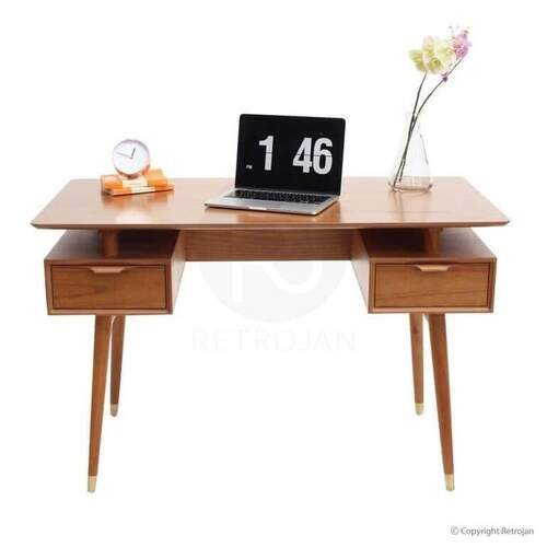 Astrid Scandinavian Style 2 Drawer Desk