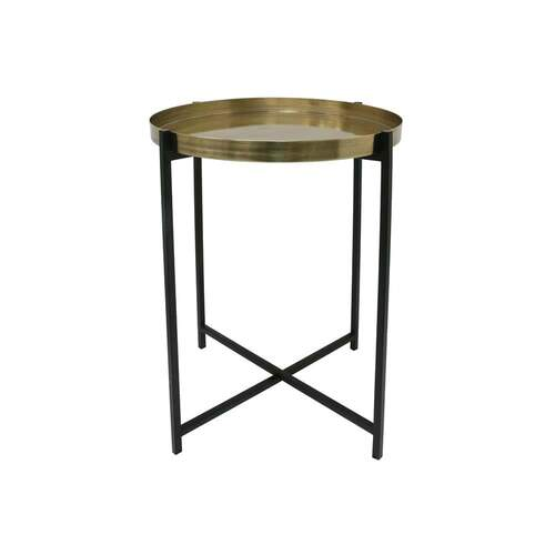 Side Table Medium - Brass/Black