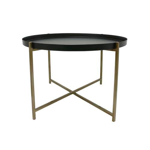 Side Table Large - Brass/Black