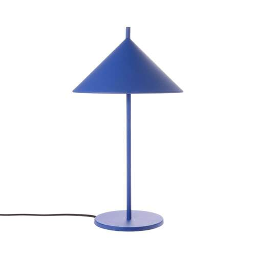 Metal Triangle Table Lamp - Medium Cobalt