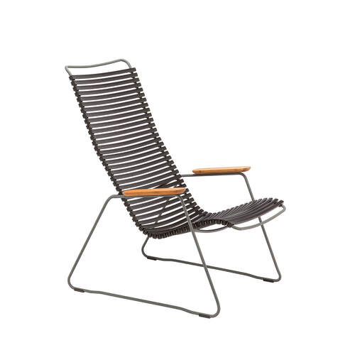 Click Outdoor Outdoor Lounge Chair - Black