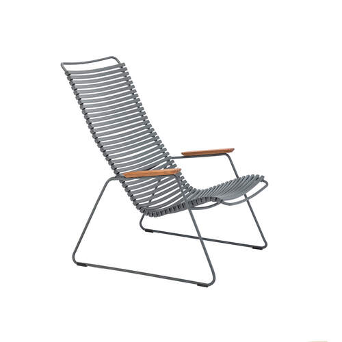 Click Outdoor Lounge Chair -  Dark Grey