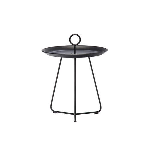 Eyelet Tray Side Table 45cm - Black
