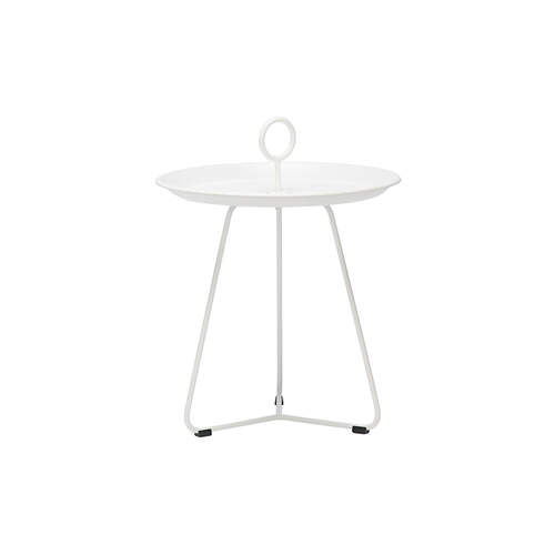 Eyelet Tray Side Table 45cm - White
