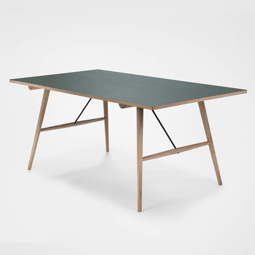 Hekla Dining Table 168cm - Green/Oak