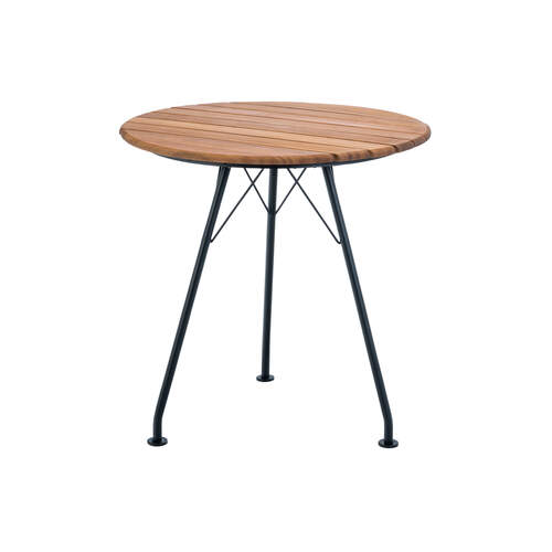 Circum Outdoor Round Dining Table - Bamboo/Black
