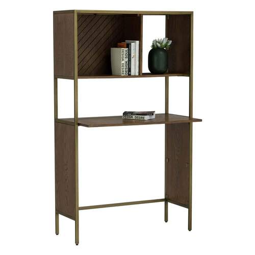 Boyd Desk - Brass / Oak